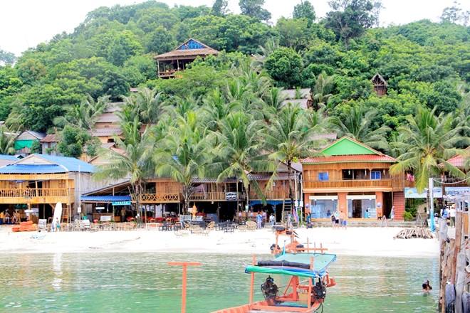 Khu du lịch ở đảo Koh Rong.