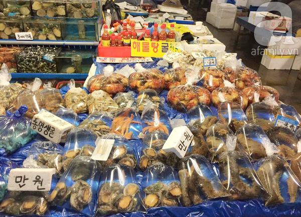 Một góc chợ cá đầu mối Noryangjin